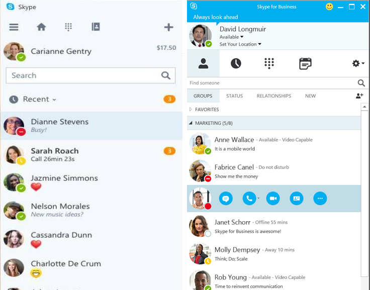 Skype and Skype for Business     What's the difference