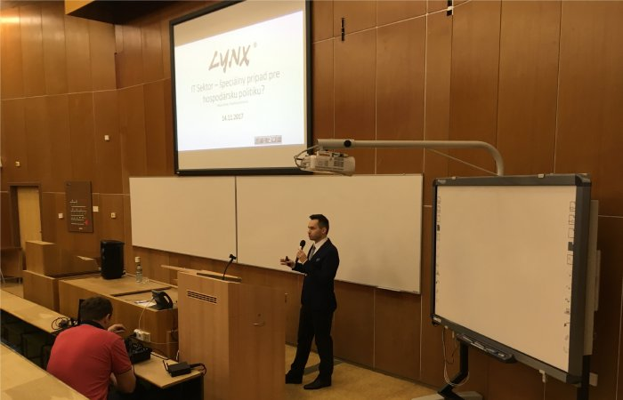 LYNX CEO lectured at the Economics Faculty of TUKE