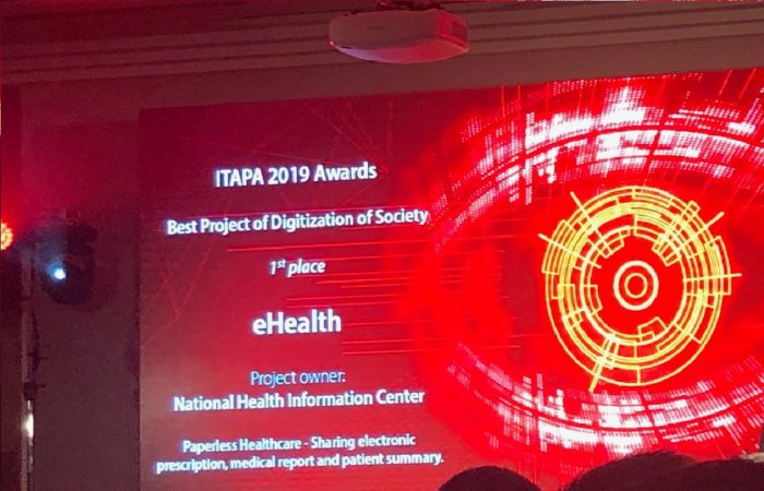 E-Health awarded as the Best Project of Digitization of Society in Slovakia, at ITAPA 2019 Conference